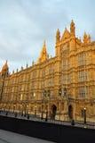 Westminster: perspectief van het Parlement, Londen Royalty-vrije Stock Afbeeldingen