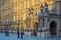 Westminster: perspectief van het Parlement, Londen Stock Afbeeldingen