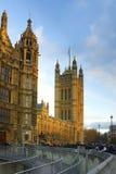 Westminster: perspectief van het Parlement, Londen Royalty-vrije Stock Fotografie