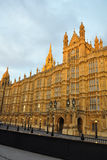 Westminster: perspective of Parliament, London. Early evening perspective view of the Houses of Parliament in London. The picture looks also great in B/W (by Royalty Free Stock Images