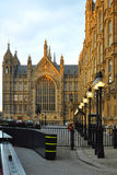 Westminster: perspective of Parliament, London. Early evening perspective view of the Houses of Parliament in London. The picture looks also great in B/W (by Stock Photography