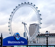 Westminster Pier Sign Royalty Free Stock Photos
