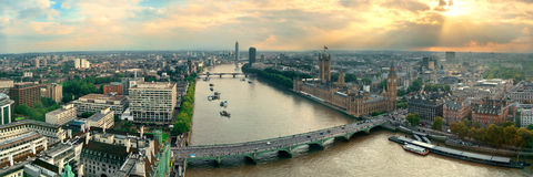 Westminster rooftop view Royalty Free Stock Image