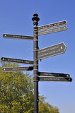 Westminster signpost Stock Photos