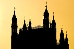westminster sillouetted аббатством Стоковые Фото