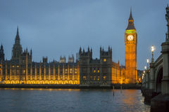Westminster Skyline at Dusk Royalty Free Stock Images