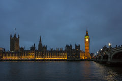 Westminster Skyline at Dusk Royalty Free Stock Image