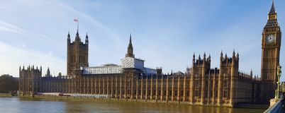 Westminster slott Big Ben i London Royaltyfri Bild
