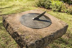 Sundial at the Anglican Church in Westminster, Free State Provin. WESTMINSTER, SOUTH AFRICA - MARCH 12, 2018: A memorial sundial at the historic Anglican Church Stock Photo