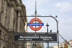 Westminster station Royaltyfria Foton