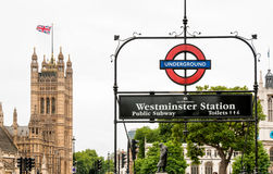 Westminster Station, London Stock Photography