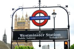 Westminster Station Stock Image
