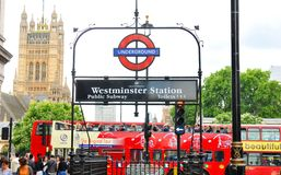Westminster Station Royalty Free Stock Images
