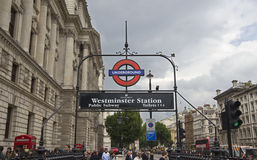 Westminster Subway Station Stock Image