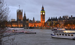 Westminster at sunset, London, England Royalty Free Stock Photography