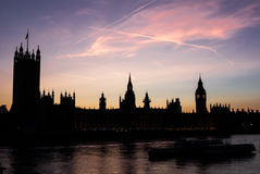 Westminster Sunset in London Royalty Free Stock Photo