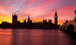 Westminster Sunset in London Stock Photos