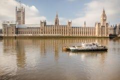 Westminster, Theems, Big Ben, Londen, Engeland, het UK Royalty-vrije Stock Foto