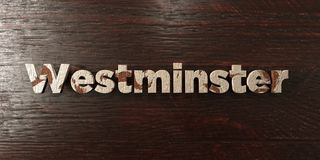Westminster - titre en bois sale sur l'érable - image courante gratuite de redevance rendue par 3D illustration stock