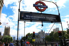 Westminster tube station London Royalty Free Stock Photos