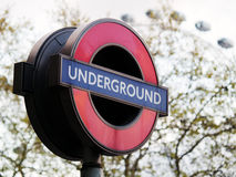 Westminster Underground Sign, London Royalty Free Stock Photography