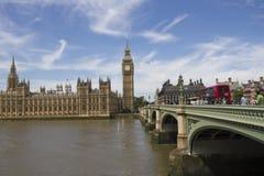 Westminster y Ben grande Imagen de archivo libre de regalías