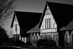 Westmoor Country Club in New Berlin, WI. This is a black and white photograph of the Westmoor Country Club in New Berlin, WI Stock Image
