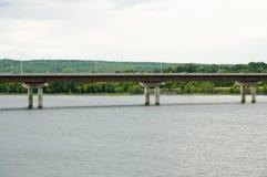 Westmorland街桥梁-弗雷德里克顿-加拿大 免版税图库摄影