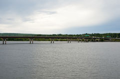 Westmorland街桥梁-弗雷德里克顿-加拿大 图库摄影