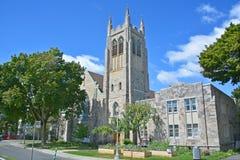 Westmount公园团结的教会 免版税图库摄影