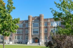Westmount Park Elementary School building. Exterior view of school royalty free stock photos