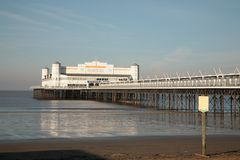 Weston Beach. Traditional English pier at Weston -super-Mare before the fire of 28 July 2008 Stock Images
