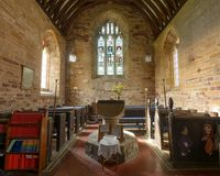 St Peter and St Paul`s Church - Font Narthex Stock Photos