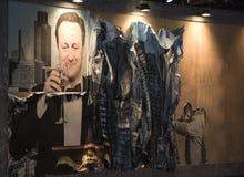 WESTON-SUPER-MARE, ВЕЛИКОБРИТАНИЯ - 21-ОЕ СЕНТЯБРЯ 2015: Dismaland, Banksy внутри Стоковое Изображение RF