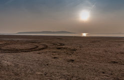 Weston Super Mare looking towards Brean Down Royalty Free Stock Photography