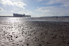 Weston-super-Mare Beach Royalty Free Stock Image