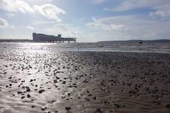 Weston-super-Mare Beach Royalty Free Stock Image
