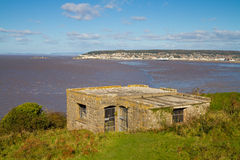 Weston-super-Mare coastline from Brean Down Stock Images