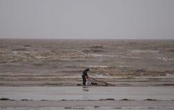 Weston Super Mare Kitesurfing stockbilder