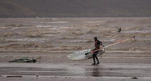Weston Super Mare Kitesurfing image libre de droits