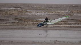 Weston Super Mare Kitesurfing stock foto's