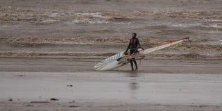 Weston Super Mare Kitesurfing lizenzfreies stockbild