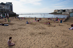 Weston-super-Mare May Bank Holiday crowds Royalty Free Stock Images