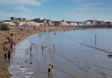 Weston-super-Mare May Bank Holiday crowds Royalty Free Stock Photos