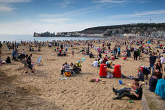 Weston-super-Mare May Bank Holiday crowds Royalty Free Stock Photography