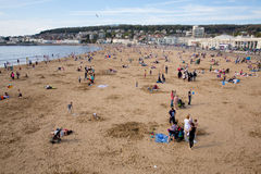 Weston-super-Mare May Bank Holiday crowds Stock Photo