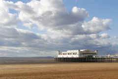 Weston-super-Mare with the Old Pier as a background Stock Photos