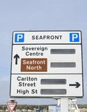 Weston Super Mare road sign Royalty Free Stock Image