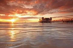 Weston Super Mare Somerset, berömd pir Arkivfoton