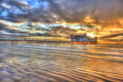 Weston Super Mare, Somerset, famous pier Royalty Free Stock Photos
